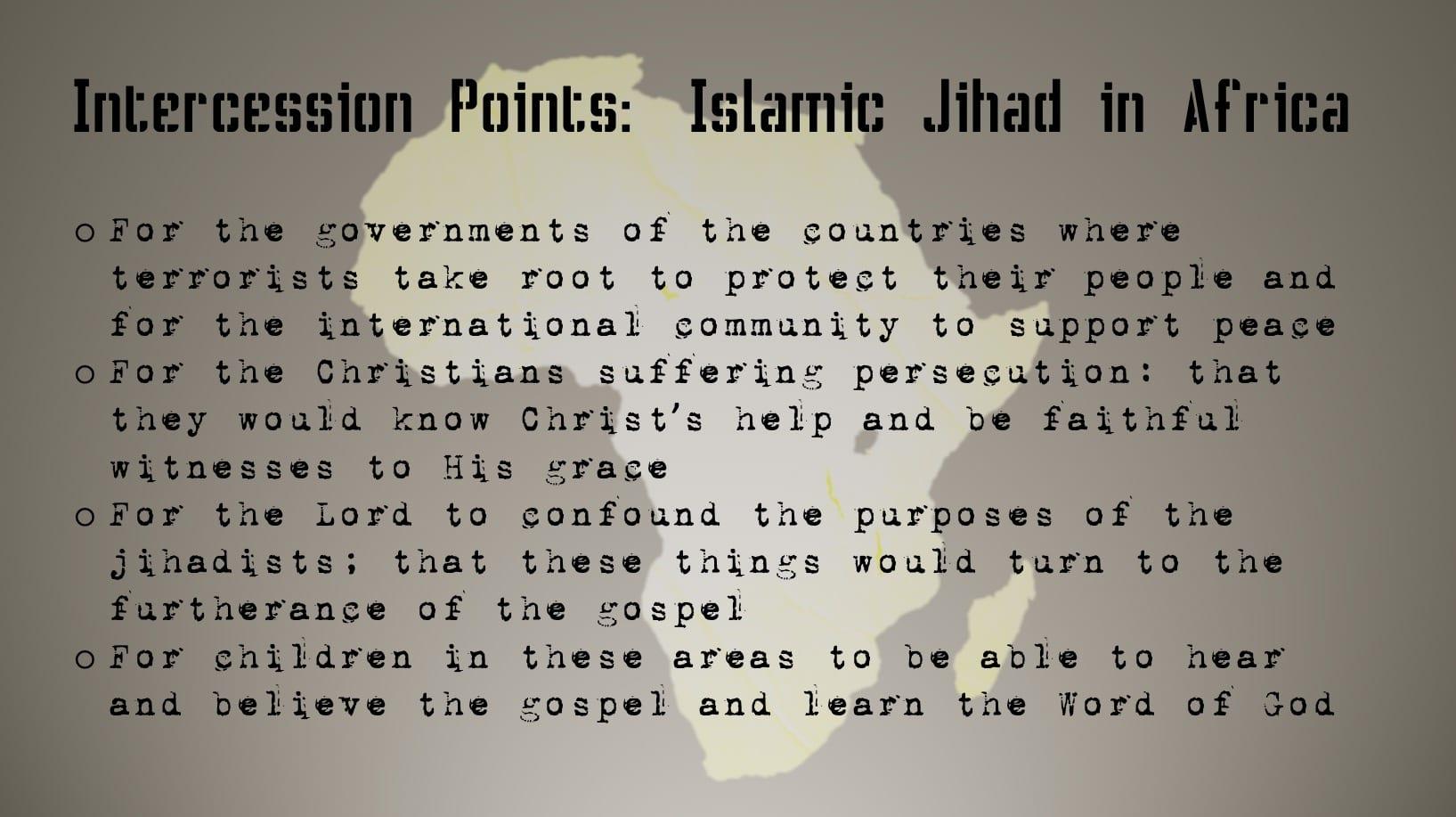 Interceding Against Genocide - Prayer Card 2