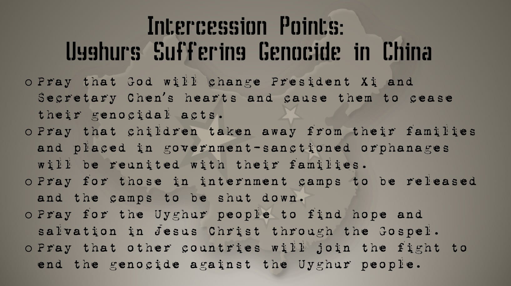Interceding Against Genocide - Prayer Card 3