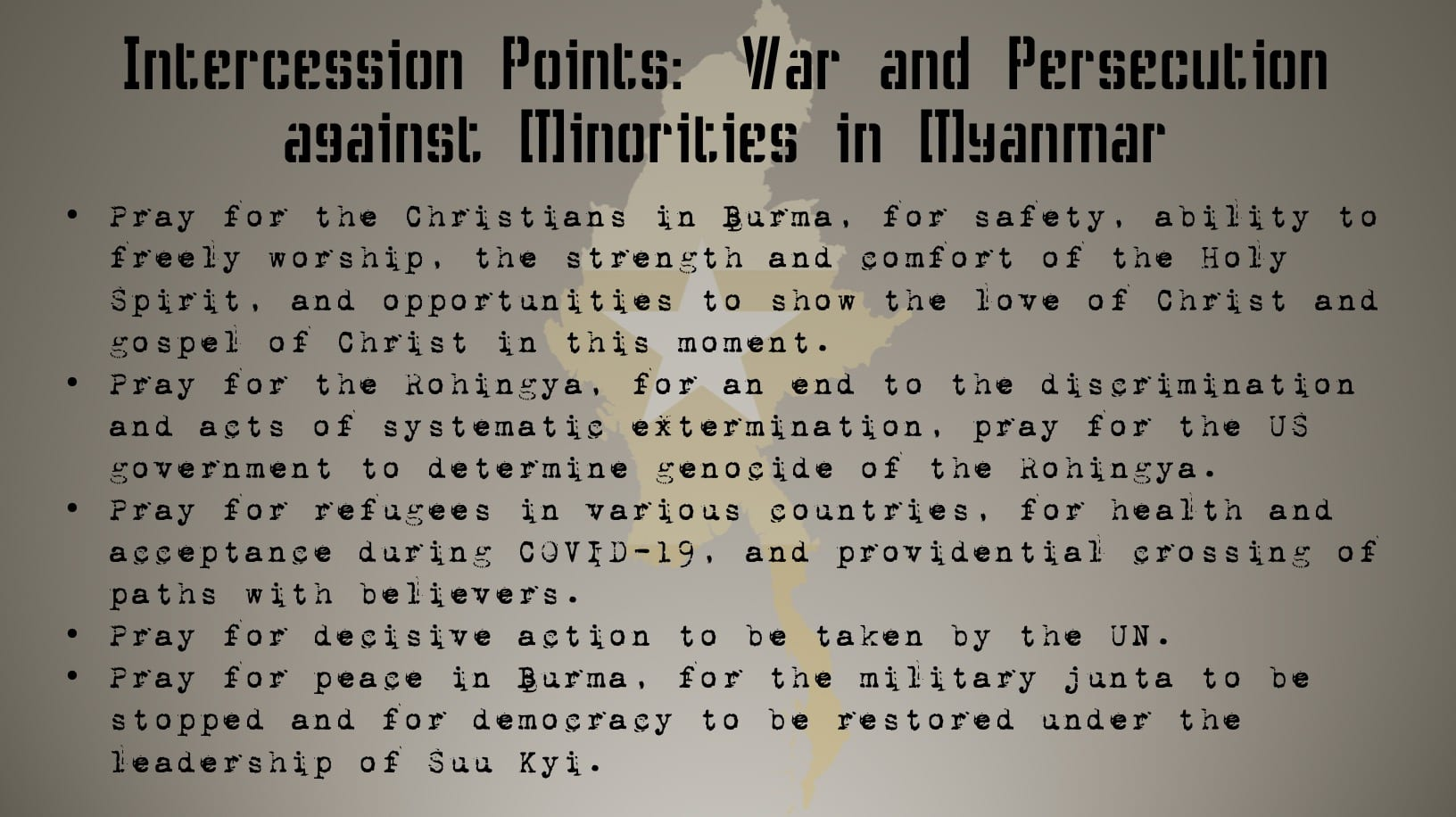 Interceding Against Genocide - Prayer Card 4