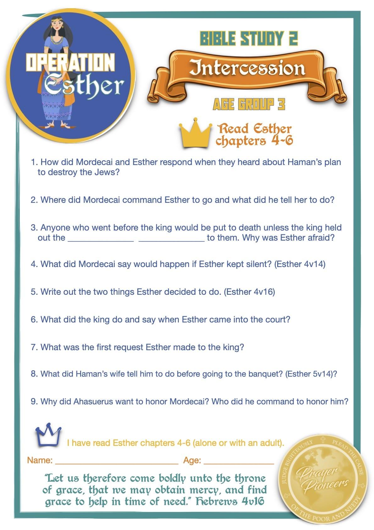 OE - Bible Study 2 - Age Group 3