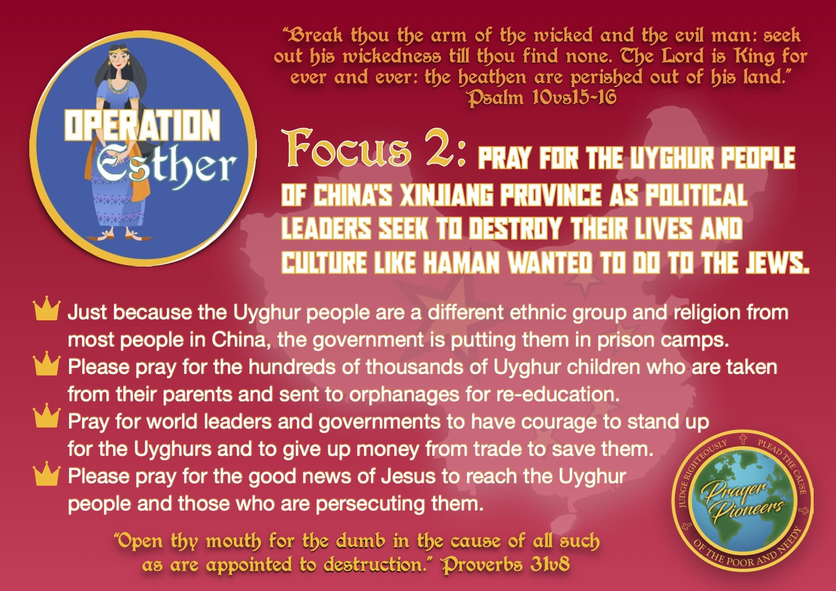Operation Esther- Focus 2