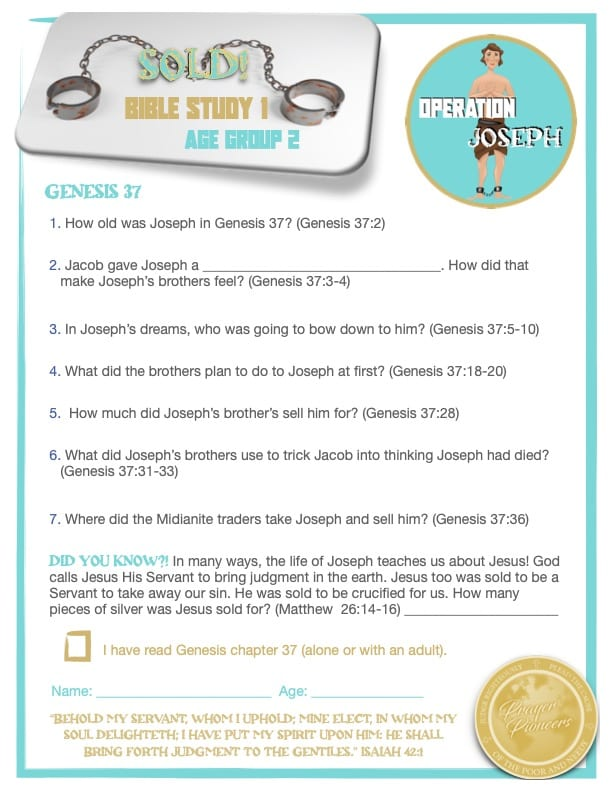 OJ - Bible Study 1- Age Group 2