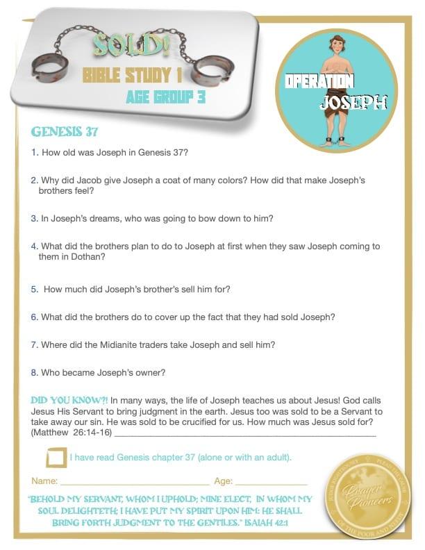 OJ - Bible Study 1- Age Group 3