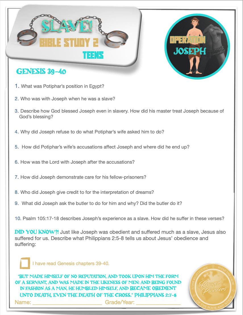 OJ - Bible Study 2 - Age Group 4
