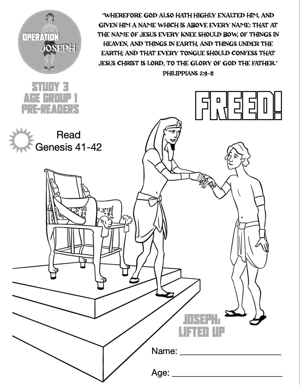 OJ - Bible Study 3 - Age Group 1