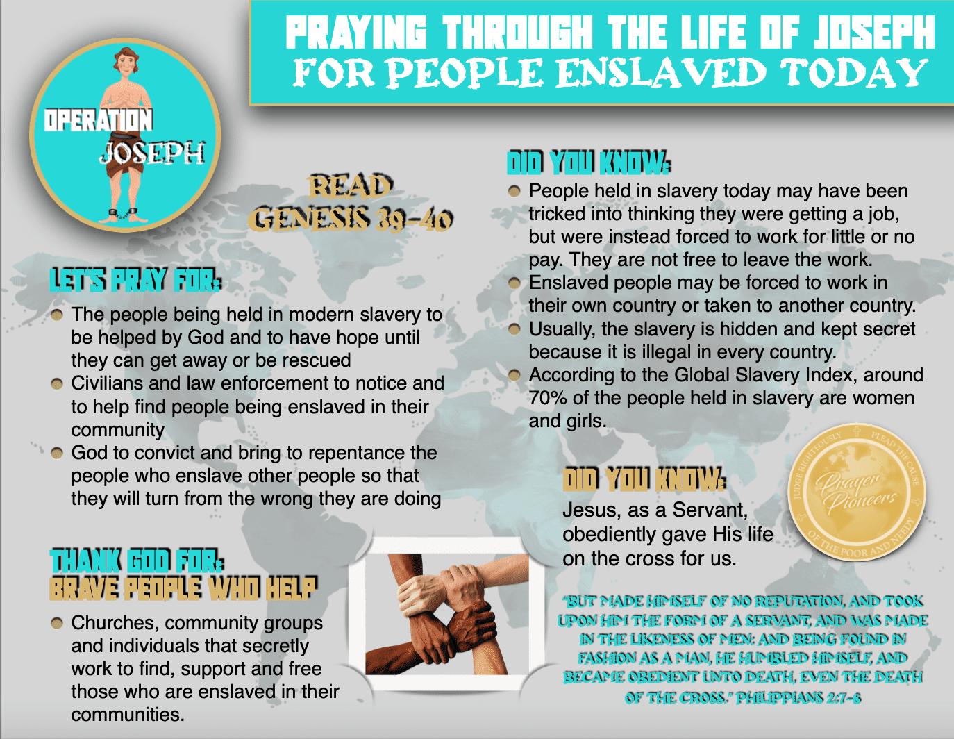Operation Joseph - Children's Prayer Sheet 2