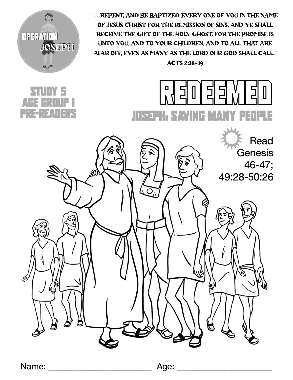Operation Joseph - Study 5 - Pre-readers