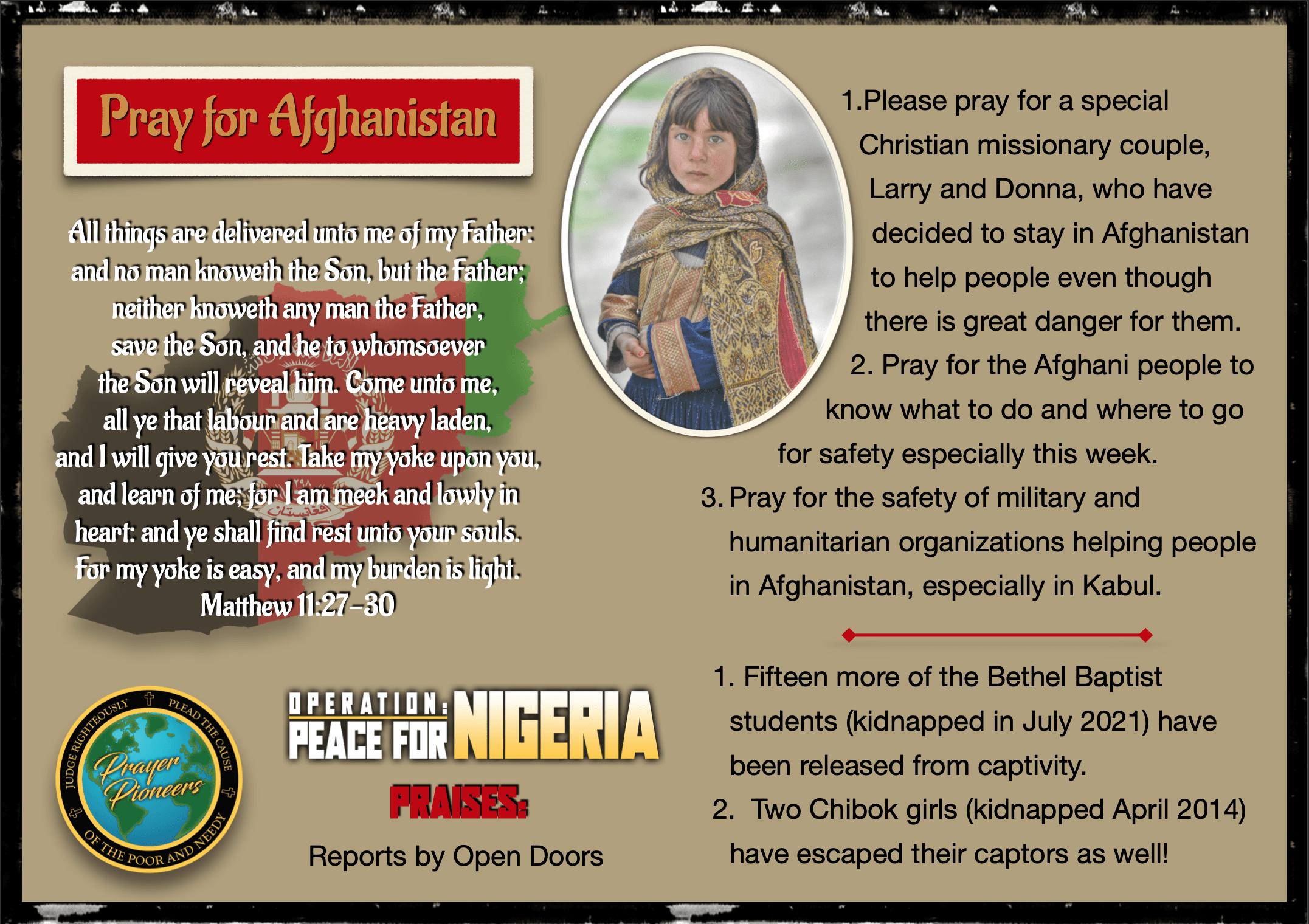 Prayer Highlight Afghanistan 2